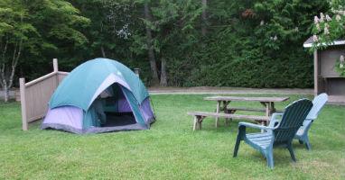 Victoria BC camping near the Butchart Gardens