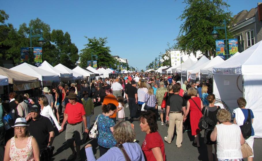 Thursday evening street market at Sidney BC